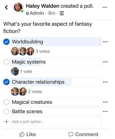 Facebook Polls Idea