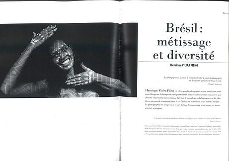 """Destaque do Livro  """"Les Brésiliens vus par les Brésiliens""""  (Os Brasileiros vistos pelos Brasileiros), com artes de Henrique Vieira Filho"""