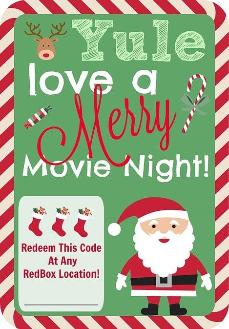 Redbox Movie Night Christmas Gift