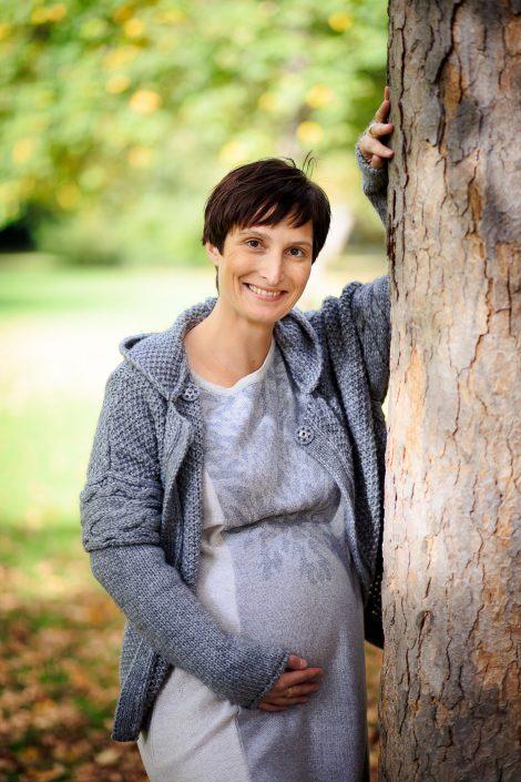 herbstliche Schwangerschaftsfotografie