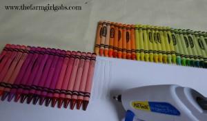 Gluing Crayons