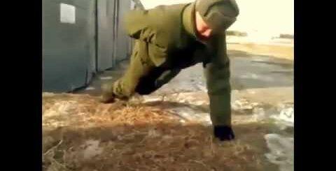 Армейские приколы, отжимание без рук