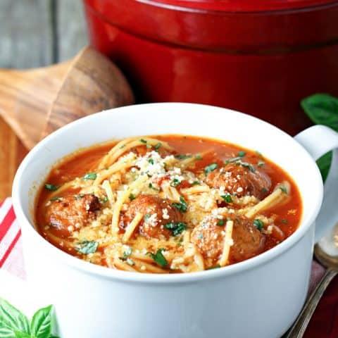 Spaghetti and Meatball Soup