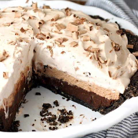 Triple Layer Chocolate Cream Pie