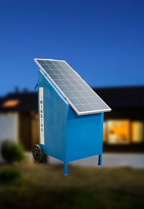 Kit de energía solar para puesto de campo