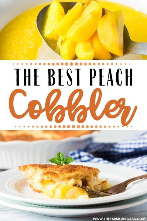 Peach cobbler is by far the best summer dessert. Made with fresh peaches, sugar, and a cake-like topping, this the BEST Peach Cobbler Recipe. Make this easy peach dessert recipe for family and friends. They will be asking for more. #peachcobbler #peachrecipe #peachdessert #summerdessert