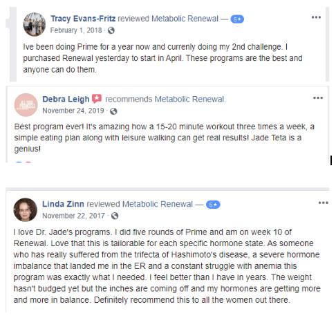 metabolic renewal reviews from facebook