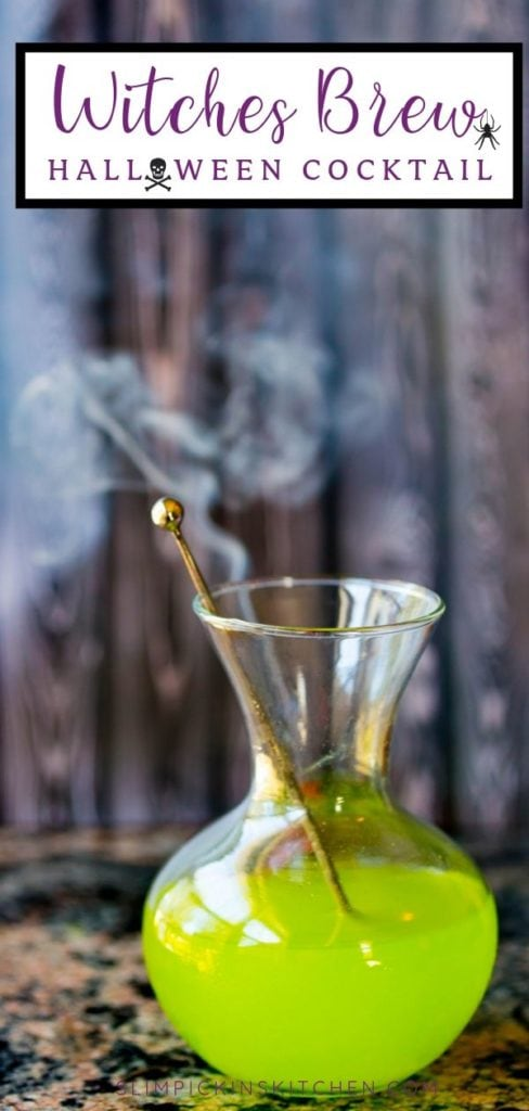 Witches Brew Drink Pinterest Image Spooky Cocktail