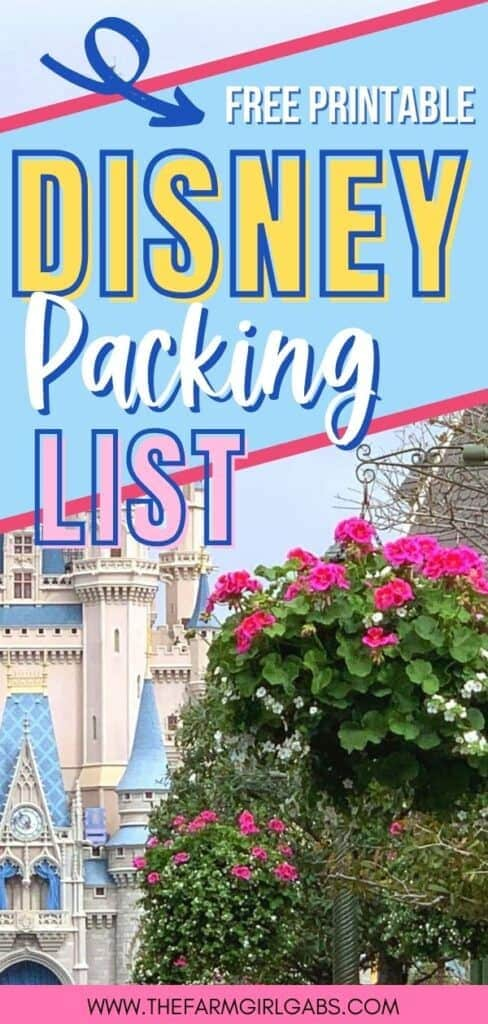 Heading to Walt Disney World Soon. Pack more fun and print this Essential Walt Disney World Packing List so you don't forget any of the Disney Packing essentials! Check out this ultimate Disney Planning Guide. Plan your perfect Disney World Vacation with these helpful Disney vacation tips. Print out this free Disney Packing List before you leave. This printable packing list will guide you on your way. #disneyworld #disneypackinglist #disneyhacks #disneytrip