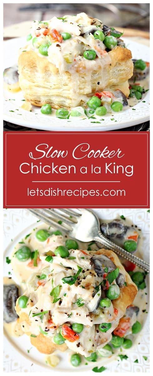 Slow Cooker Chicken a la King