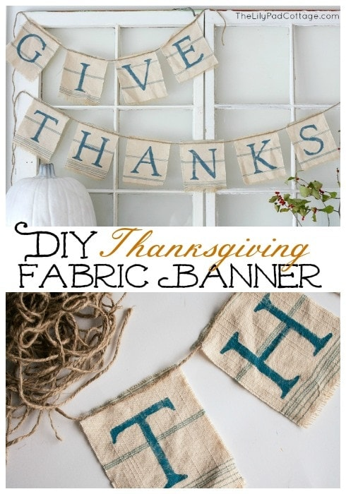 Make your own Give Thanks fabric banner