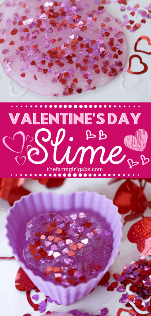 You and yourkids will LOVE making this easy DIY Valentine's Day Slime project. This fun craft makes a great party favor too! #Slime #ValentinesDay #Crafts #DIY #Kids #KidsCrafts #PartyIdeas #SlimeRecipe