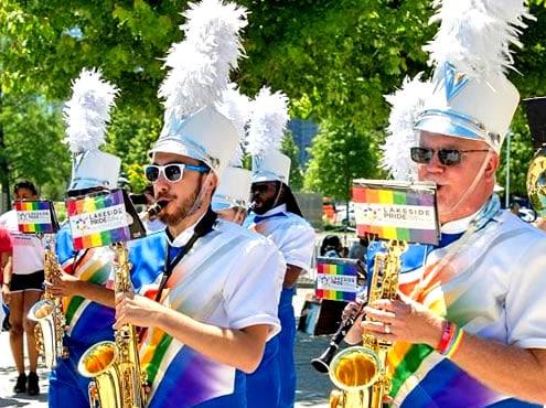 Фестиваль гордости военно-морского пирса