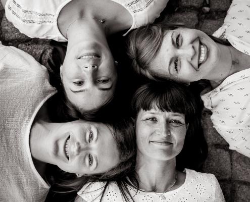 4 Friends in BlackandWhite