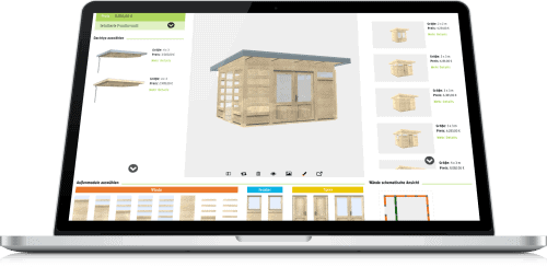 Gartenhaus-Planung im 3D-Konfigurator