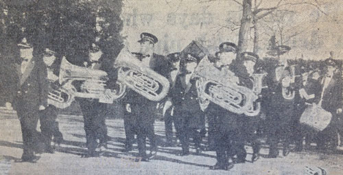 Marching at Armhem in 1957