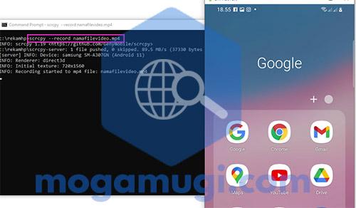 Cara Rekam dan Menampilkan Layar HP Android Dengan Scrcpy