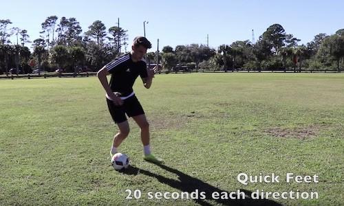 Quick Feet Drill - Soccer Training Program