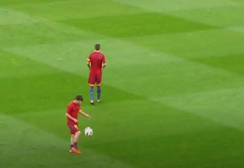 Messi Long Distance Juggling