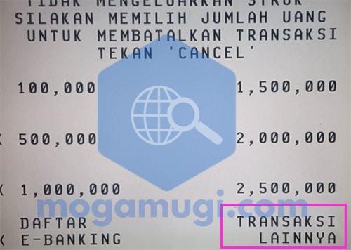 Transfer di ATM BCA