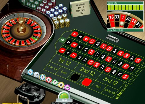 Play Roulette at Tote