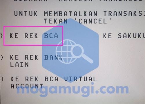 Transfer ATM BCA ke BCA