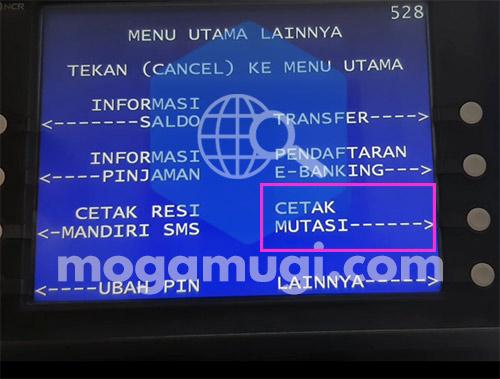 Cara Cetak Mutasi Rekening Mandiri Lewat ATM