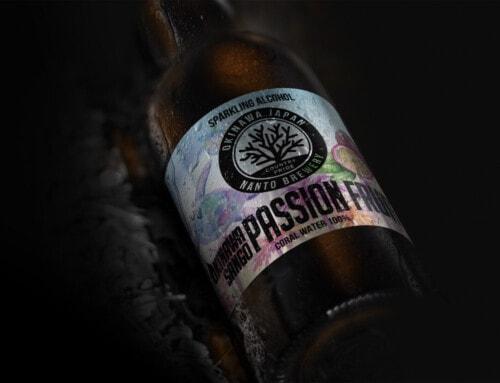 沖縄サンゴビール限定醸造商品「パッションフルーツエール」ラベルデザイン:南都酒造所