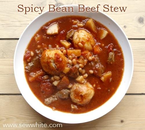 Sew White Spicy Bean Beef Stew 1
