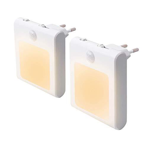 JOKBEN LED Nachtlicht mit Bewegungsmelder, 2 Stück