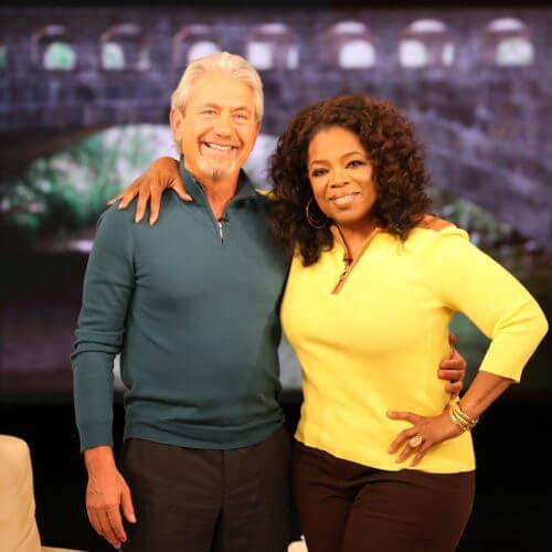Oprah Winfrey and Louie Schwartzberg