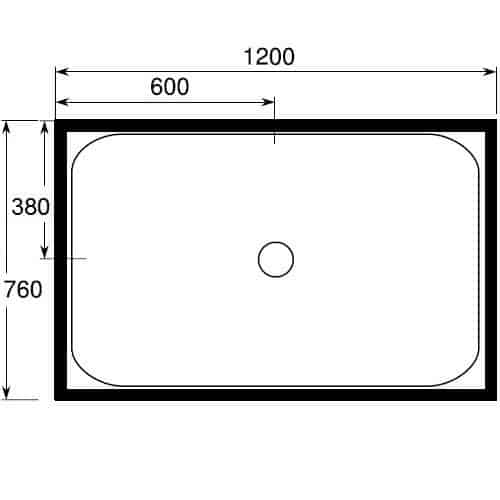 Shower Cubicle Corner 1200 x 760