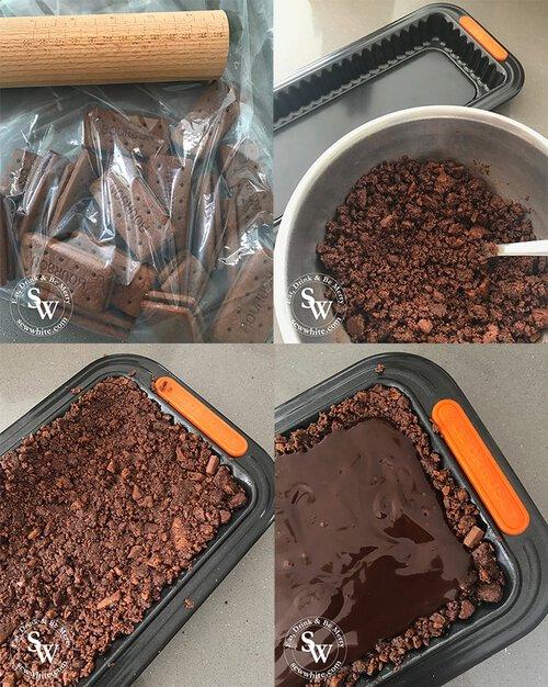 Step by step making a raspberry chocolate tart