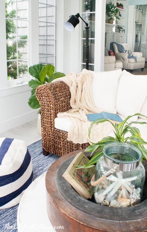 Coastal Sunroom Decor
