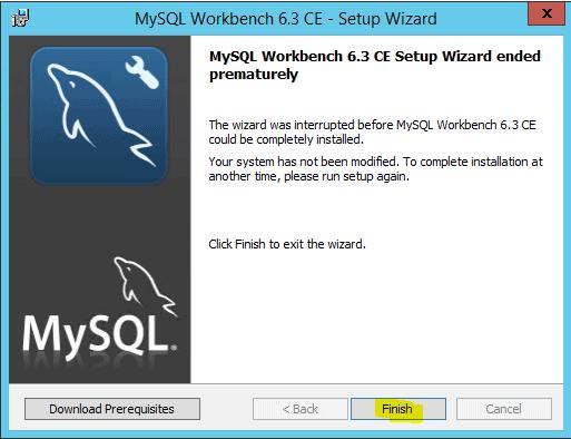 MySQL Workbench 6.3-Setup Wizard