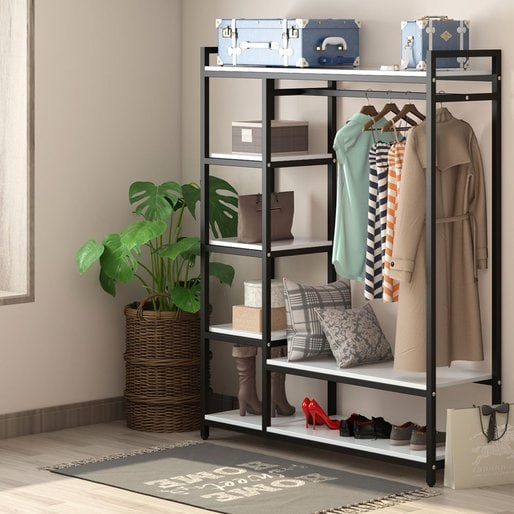You can use a free-standing closet outside of the closet too.