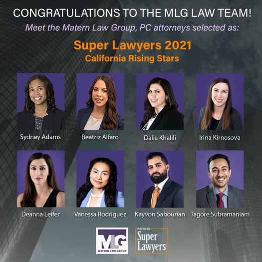 Matern Law Group, PC Super Lawyers 2021 California Rising Stars Square