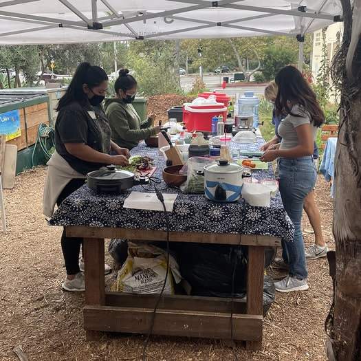 S.P.Y. Safe Place for Youth Volunteering food prep