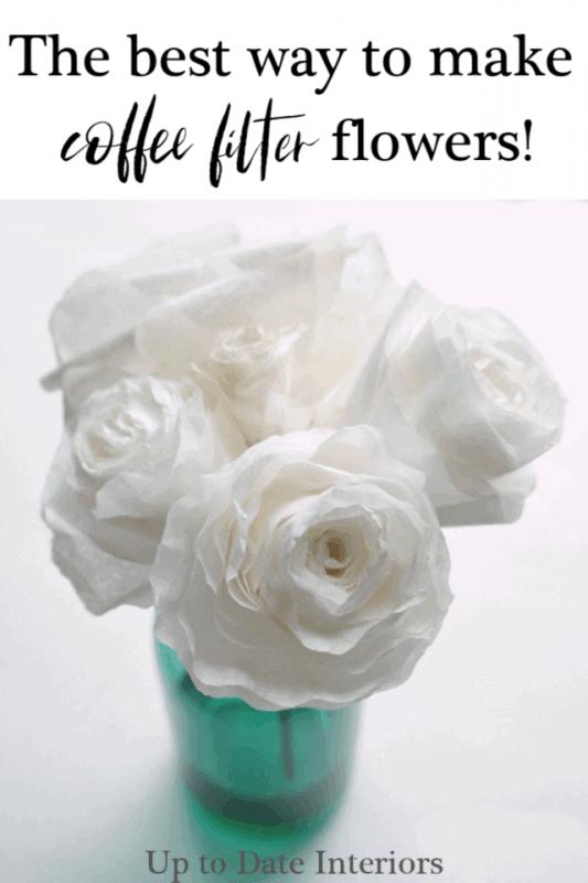 Best Way Coffee Filter Flowers DIY Pinterest Black