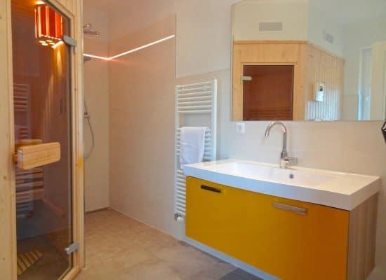 Fleesensee Ferienhaus Badezimmer Dusche