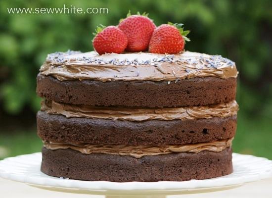 Sew White chocolate lavender and cherry cake recipe 2