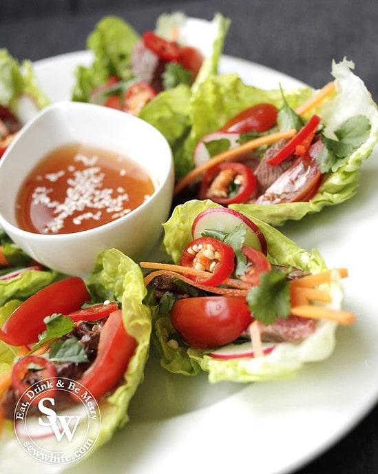 Beautiful and vibrant Vietnamese lettuce wraps