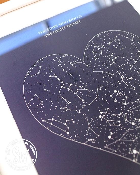 Posterhaste heart star map for Mother's Day Gift Guide