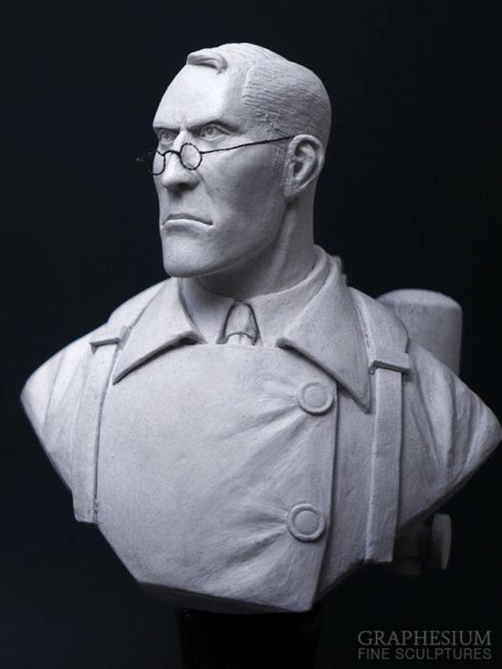 Custom handmade Medic (Team Fortress 2) sculpture / statue / figure by Graphesium (gsculpt)