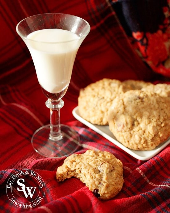 the perfect white chocolate cookie recipe to serve with milk