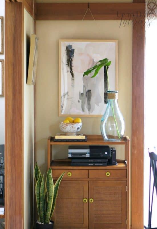 Simplify your decor by keep shelf items to a minimum