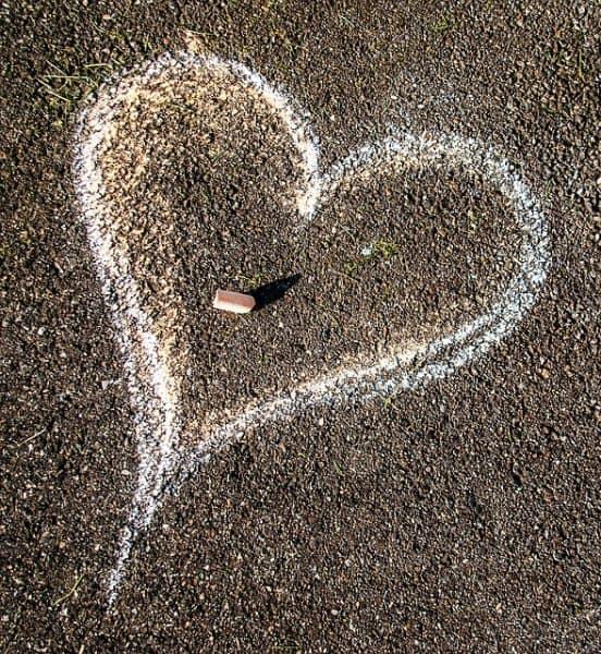 chalk heart drawing