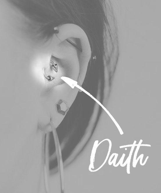 daith ear piercing