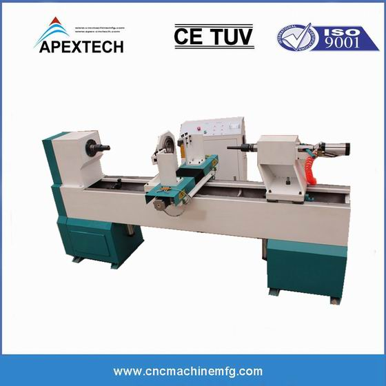 1530 Single Axis Two knives Wood Cnc Lathe and wood working copying turning lathe machinery