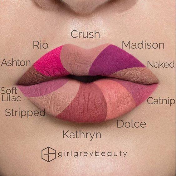 Swatches of Anastasia Beverly Hills' Liquid Lipstick